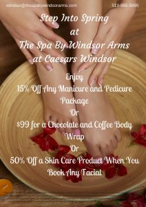 Step Into Spring at The Spa By Windsor Arms